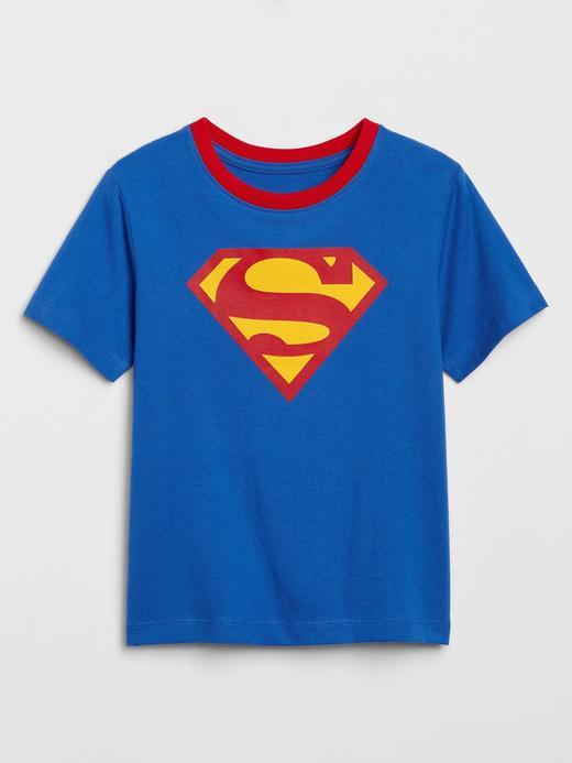 Erkek Bebek Mavi DC ™ Pelerinli T-Shirt