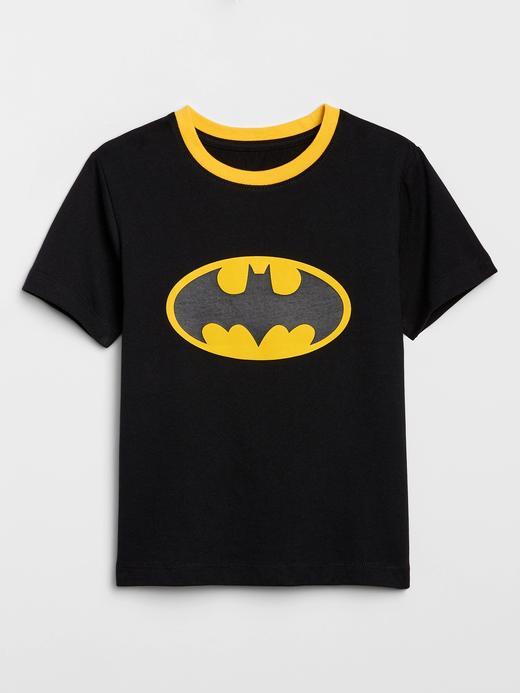 Erkek Bebek Siyah DC ™ Pelerinli T-Shirt