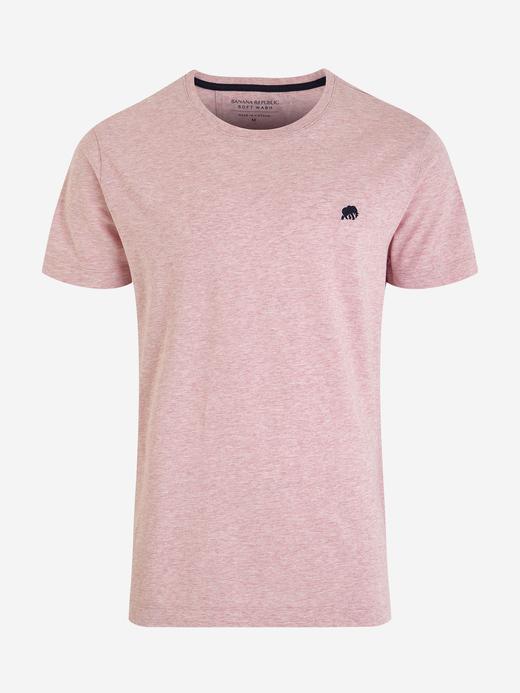 Erkek Pembe Kısa Kollu T-Shirt
