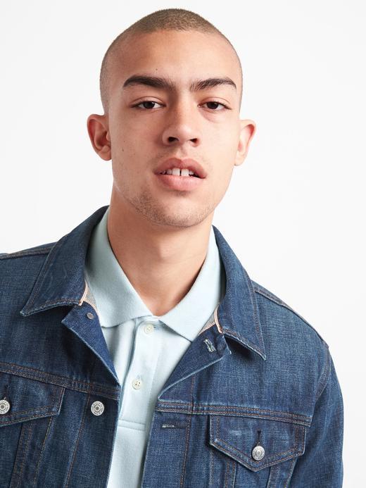 Erkek kırçıllı gri Kısa kollu Streç Pique Polo T-Shirt