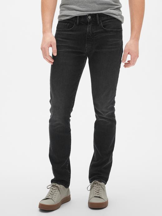 Erkek Siyah GapFlex Skinny Jean Pantolon