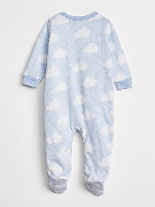 Erkek Bebek Mavi Desenli Tulum