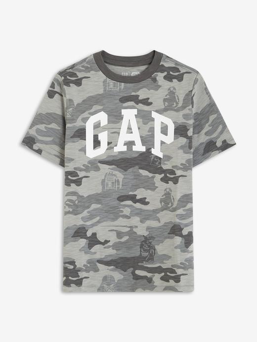 Erkek Çocuk Gri Gap Logo Kısa Kollu T-Shirt