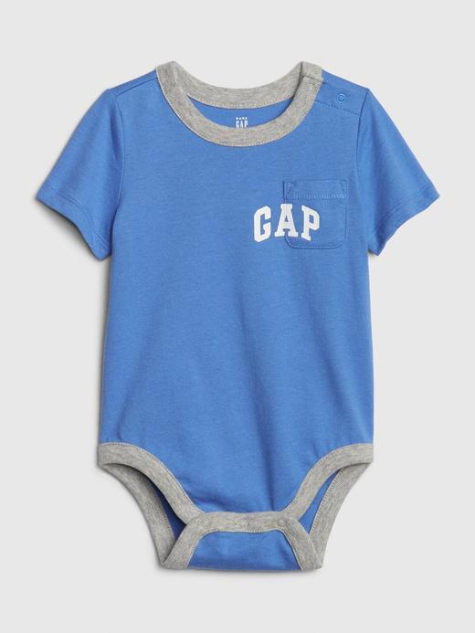 Erkek Bebek Mavi Gap Logo Body