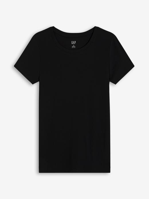 Kadın Siyah Favorite  Yuvarlak Yaka T-Shirt