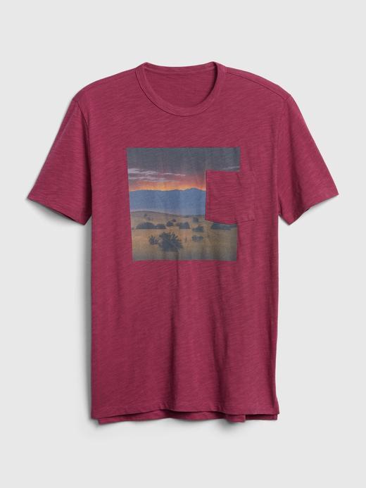 Erkek Pembe Grafik Kısa Kollu T-Shirt