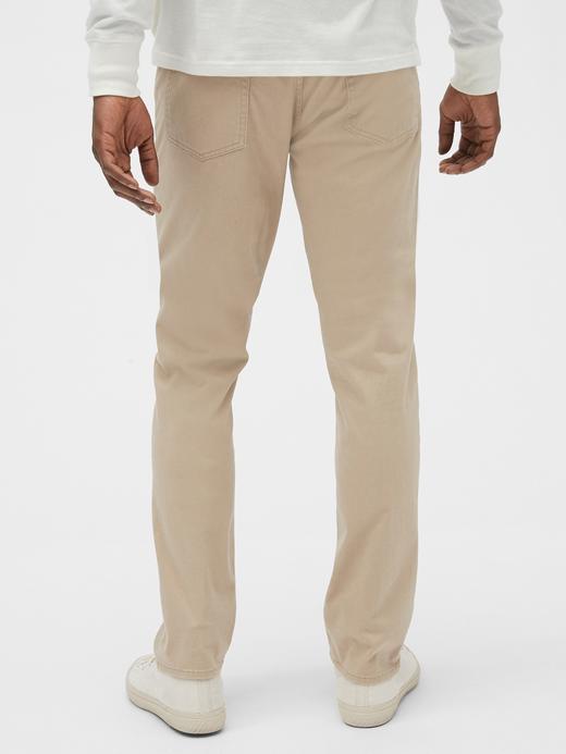 Erkek Bej GapFlex Slim Jean Pantolon