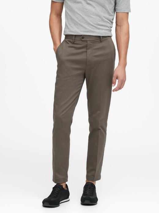 Erkek Yeşil Slim Traveler Chino Pantolon