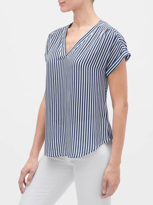 Kadın Mavi Kısa Kollu Bluz