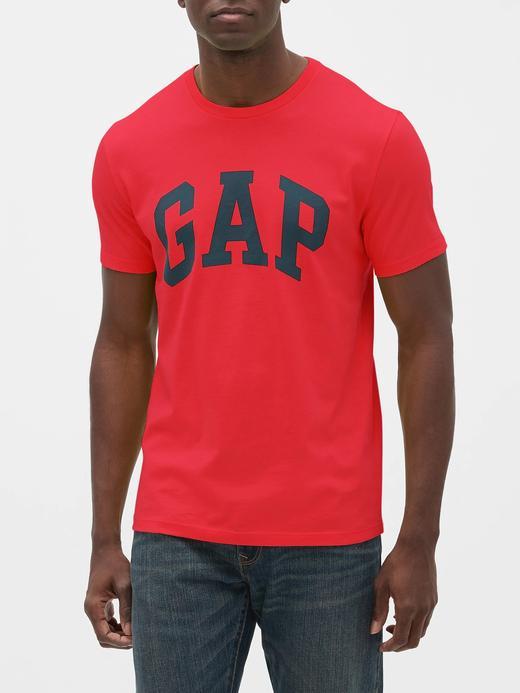 Erkek Kırmızı Gap Logo Kısa Kollu T-Shirt