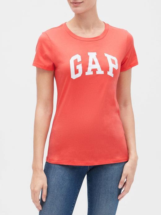 Kadın mercan Gap Logo Kısa Kollu T-Shirt