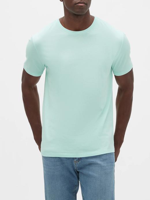 Erkek su mavisi Kısa Kollu T-Shirt