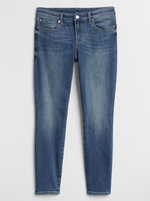 Kadın Lacivert Mid Rise Legging Skimmer Jean Pantolon