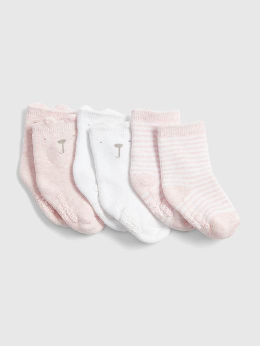Erkek Bebek Pembe 3'lü Brannan Bear Çorap Seti