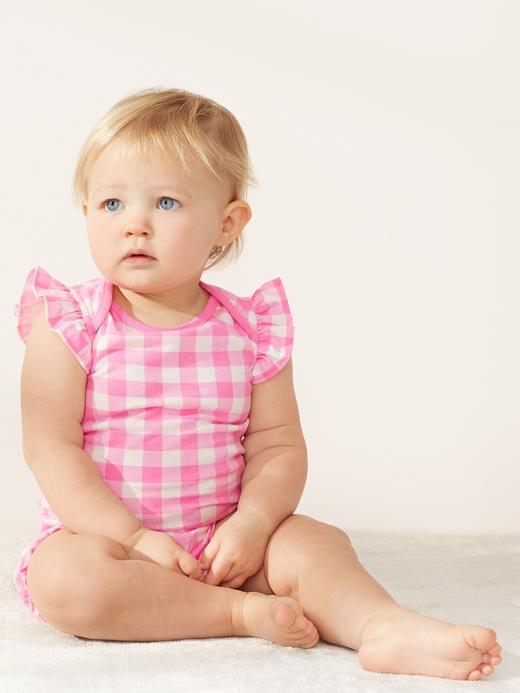 Kız Bebek Yeşil Fırfırlı Desenli Body