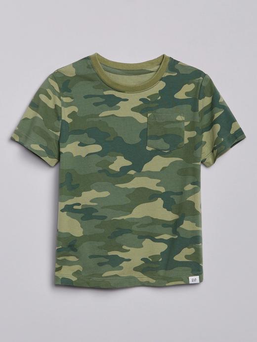 Erkek Bebek Yeşil Desenli T-Shirt