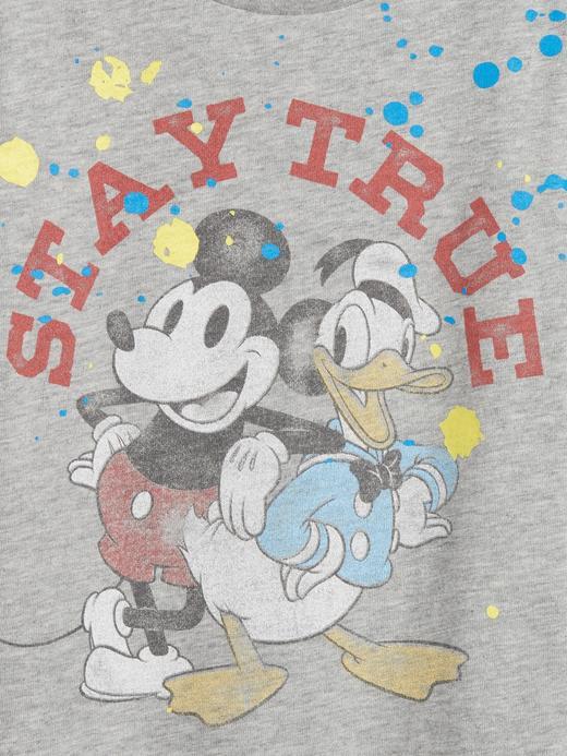 Erkek Bebek Gri Disney Mickey Mouse T-Shirt