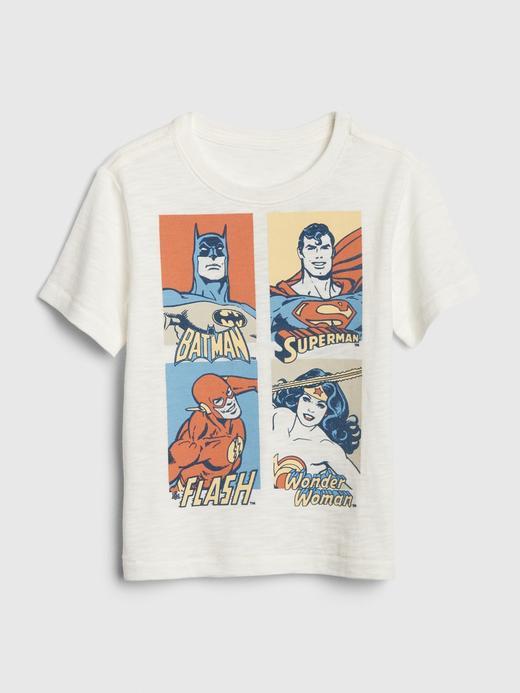 Erkek Bebek Beyaz Baskılı Kısa Kollu T-Shirt