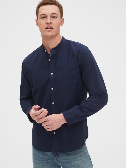 Erkek Lacivert Lived-In Standard Fit Gömlek