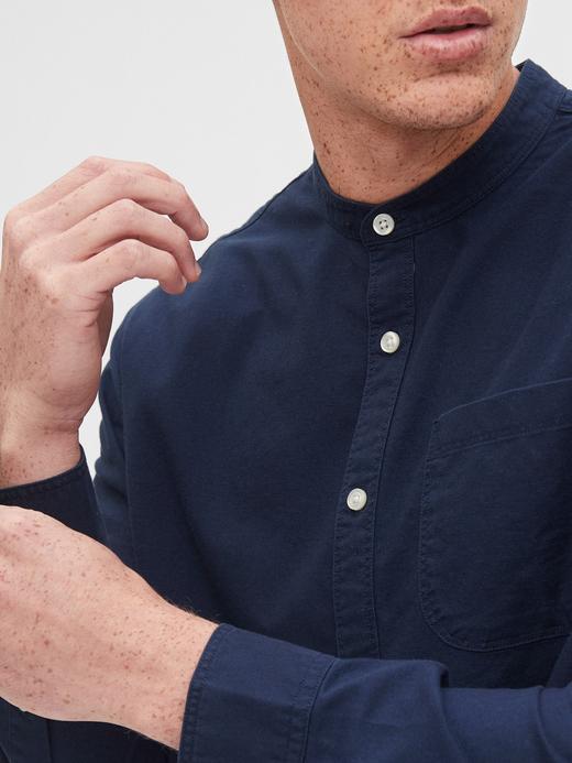 Erkek Beyaz Lived-In Standard Fit Gömlek