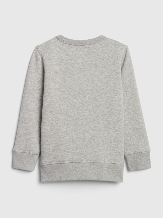 Erkek Bebek Gri Gap Logo Düz Yakalı Sweatshirt