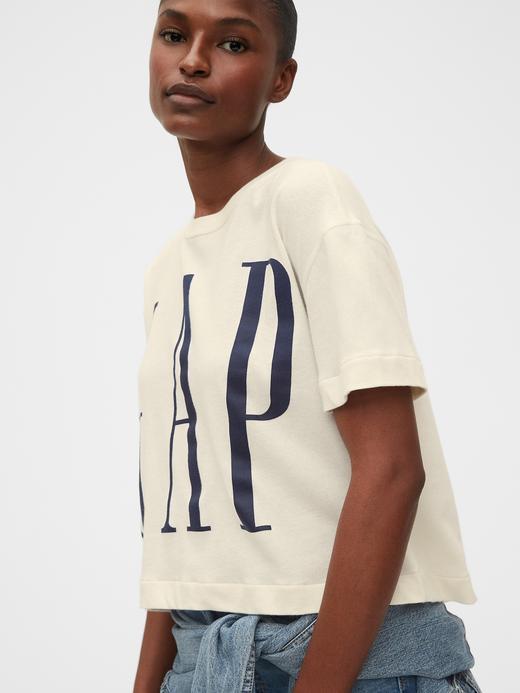 Kadın Pembe Gap Logo Kısa Kollu T-Shirt