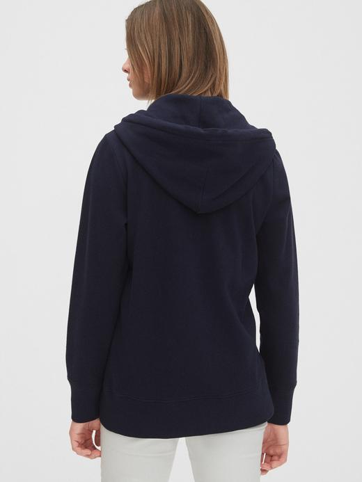 Kadın Gri Gap Logo Kapüşonlu Sweatshirt