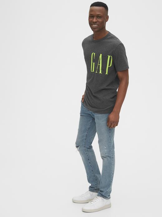 Erkek Sarı Gap Logo Cep Detaylı T-Shirt