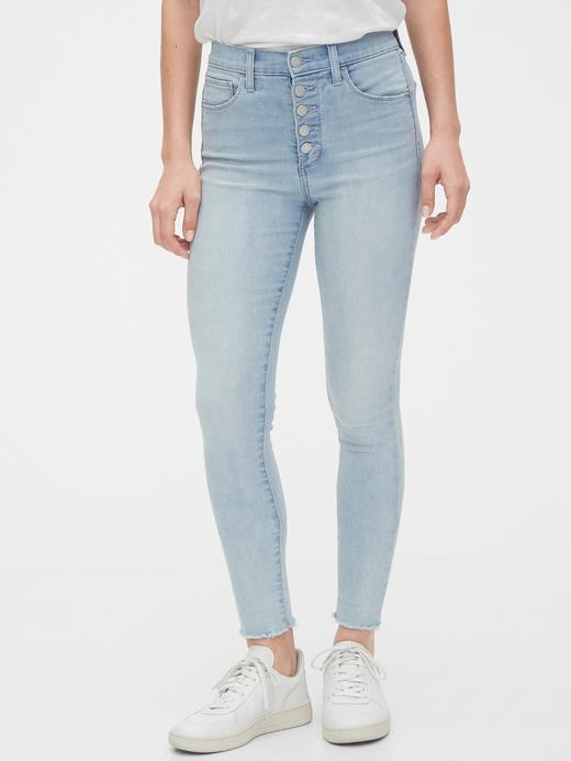 Kadın Mavi High Rise Favorite Jegging Jean Pantolon