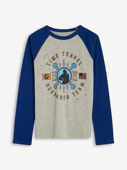 Erkek Çocuk Gri Uzun Kollu T-shirt