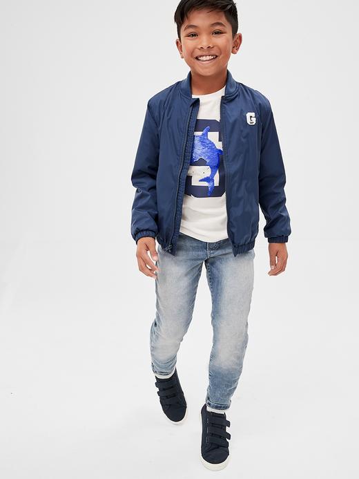 Erkek Çocuk Mavi Fantastiflex Pull-On Slim Jean Pantolon