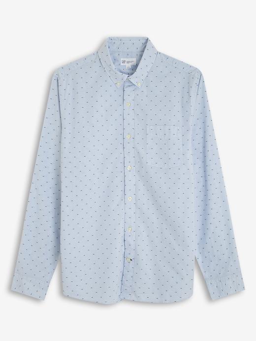Erkek açık mavi Poplin Uzun Kollu Gömlek