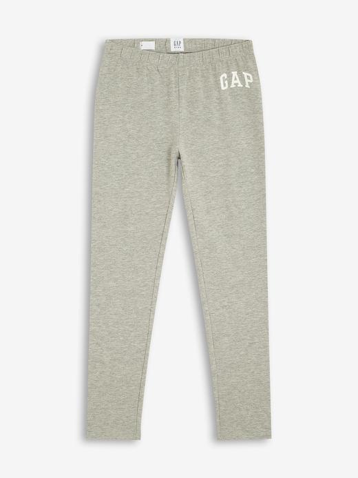Kız Çocuk Gri Gap Logo Tayt