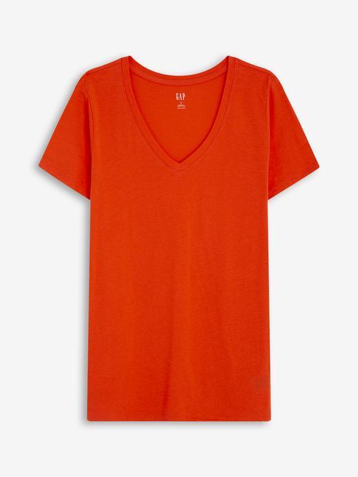 Kadın Kırmızı Favorite V Yaka T-Shirt