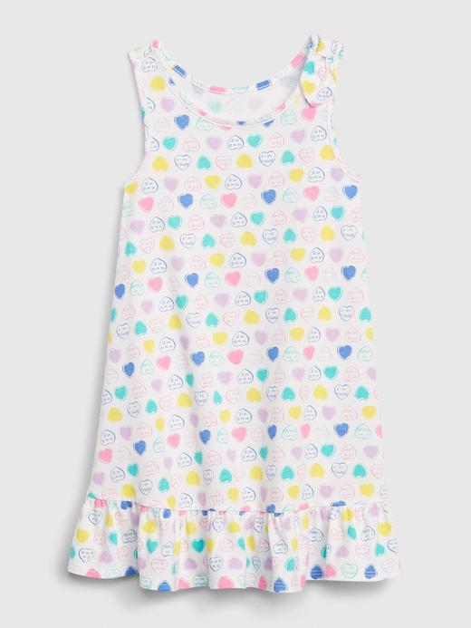 Kız Bebek Beyaz Askılı Peplum Elbise