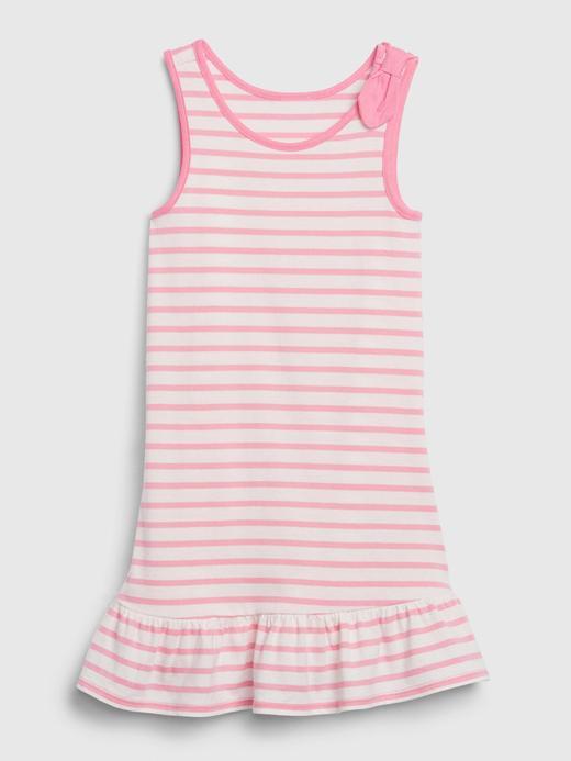 Kız Bebek Pembe Askılı Peplum Elbise