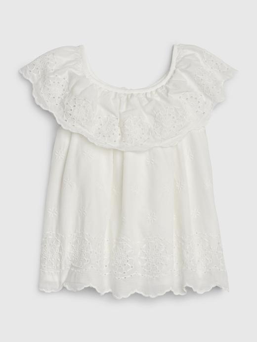 Kız Bebek Beyaz Fırfırlı Bluz