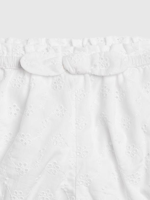 Kız Bebek Beyaz Desenli Şort