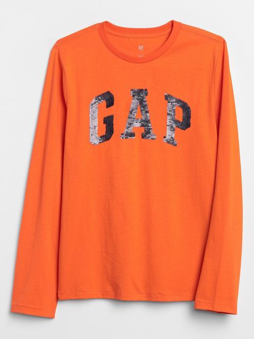Erkek Çocuk Turuncu Gap Logo Pullu T-Shirt