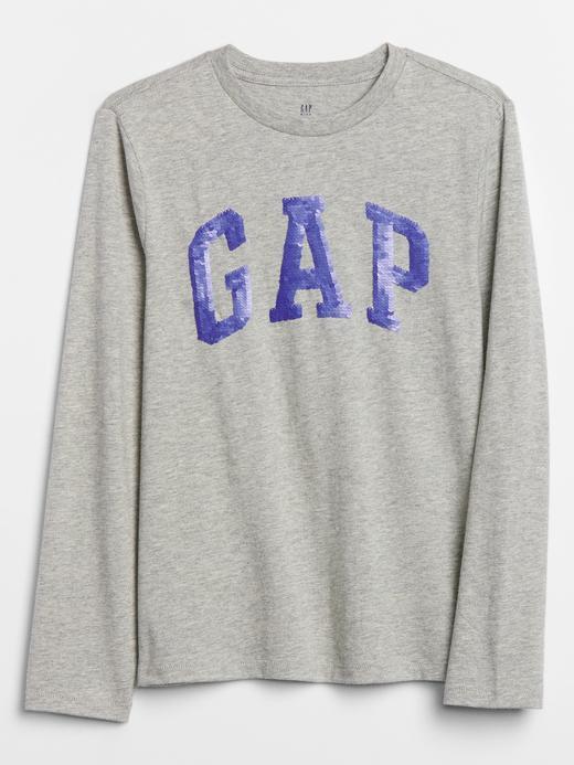 Erkek Çocuk Gri Gap Logo Pullu T-Shirt