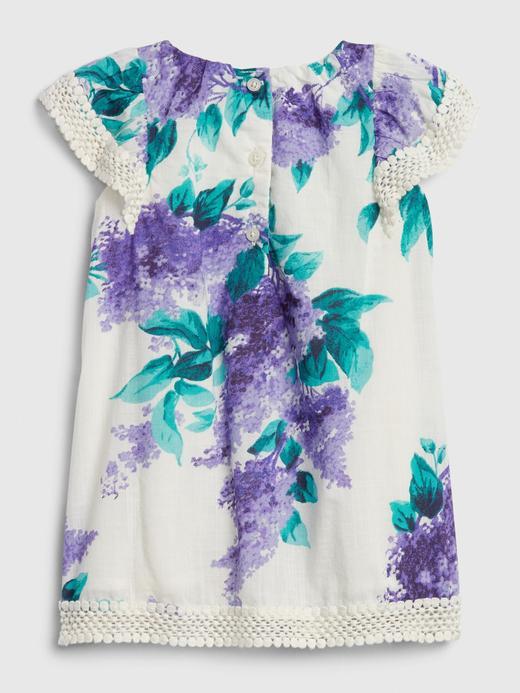 Kız Bebek Çok renkli Çiçek Desenli Fırfırlı Elbise