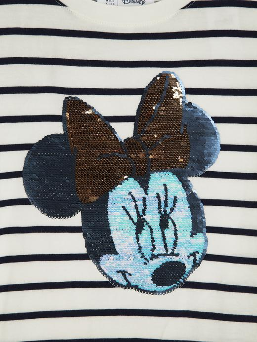 Kız Çocuk Lacivert Disney Mickey&Mini Mouse Pullu T-Shirt