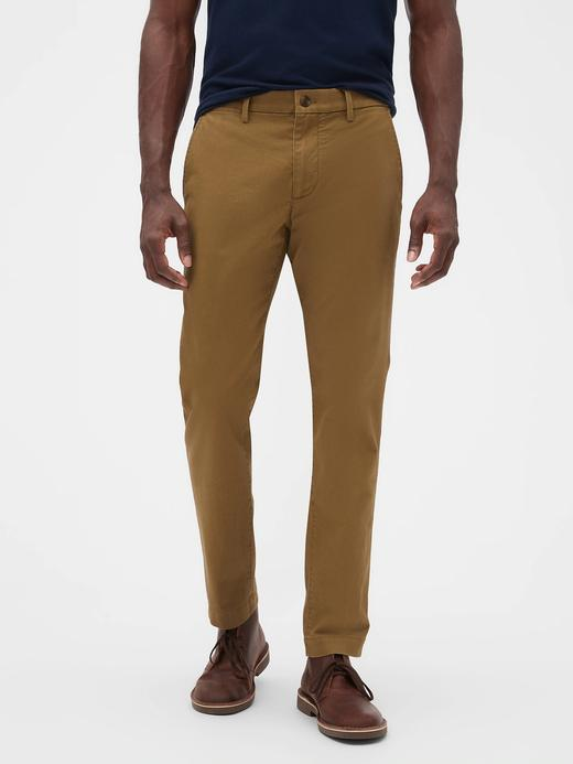 Erkek Kahverengi GapFlex Skinny Fit Khaki Pantolon