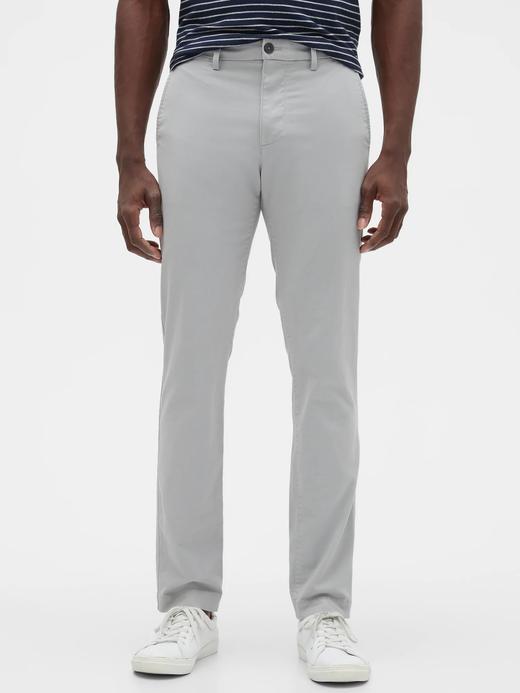 Erkek Gri GapFlex Skinny Fit Khaki Pantolon