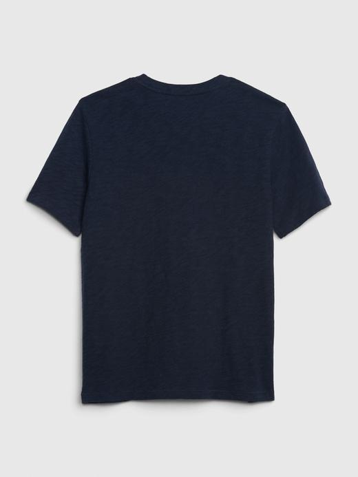 Erkek Çocuk Gri Grafik Değişen Pullu T-Shirt