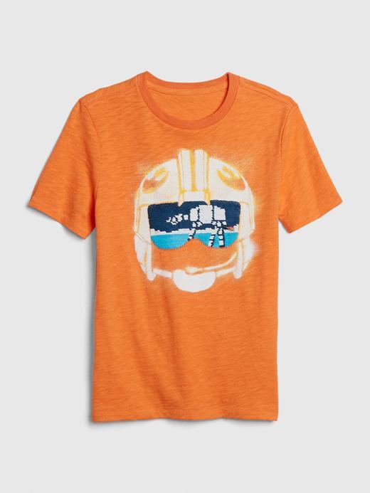 Erkek Çocuk Turuncu Star Wars™ Pullu T-Shirt