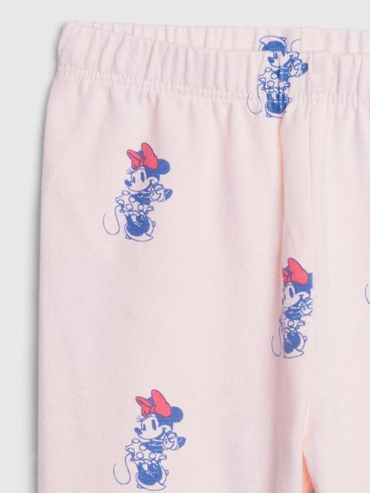Kız Bebek Pembe Disney Minnie Mouse Desenli Tayt