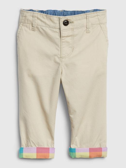 Erkek Bebek Bej Khaki Pantolon