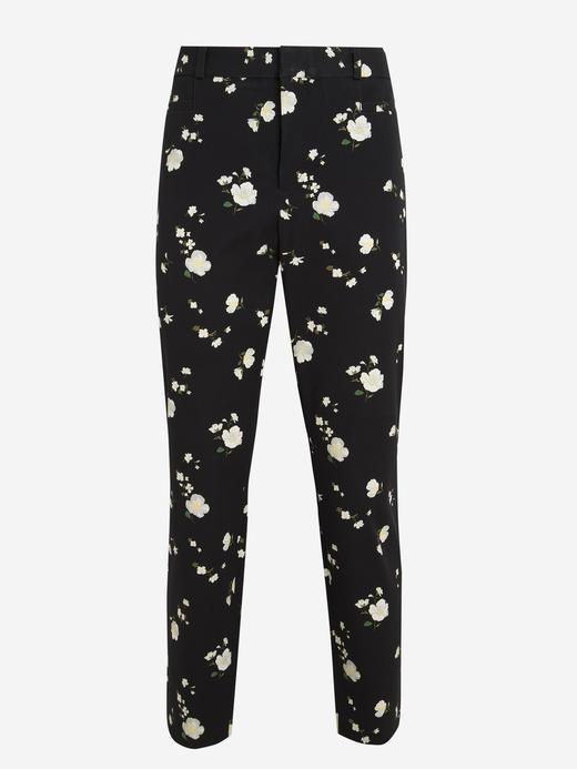 Kadın Siyah Sloan Çiçek Desenli Pantolon