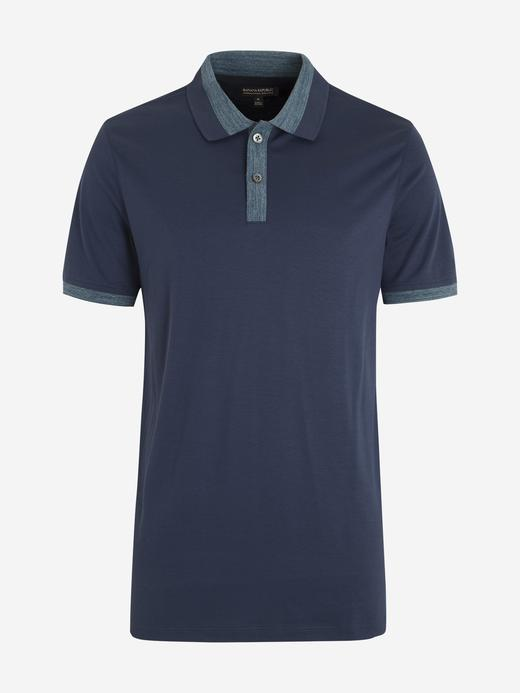 Erkek Lacivert Luxury-Touch Polo Yaka T-Shirt